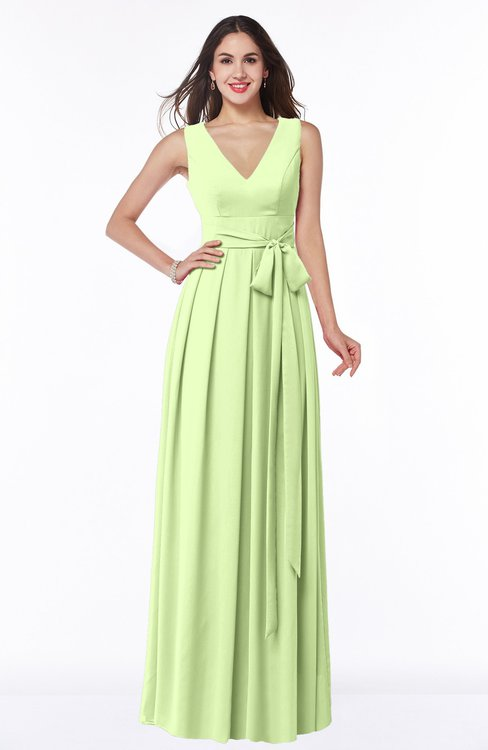 ColsBM Esther Butterfly Traditional V-neck Sleeveless Zip up Chiffon Plus Size Bridesmaid Dresses