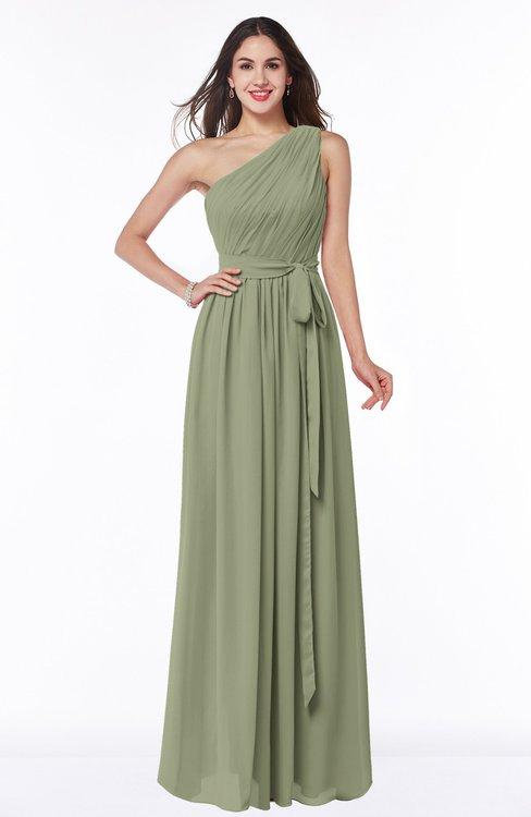 ColsBM Fiona Bog Classic A-line Asymmetric Neckline Chiffon Floor Length Sash Plus Size Bridesmaid Dresses
