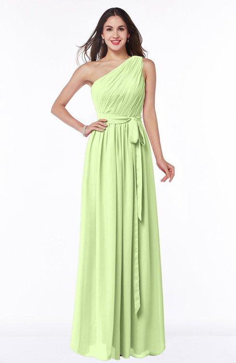 ColsBM Fiona Butterfly Classic A-line Asymmetric Neckline Chiffon Floor Length Sash Plus Size Bridesmaid Dresses