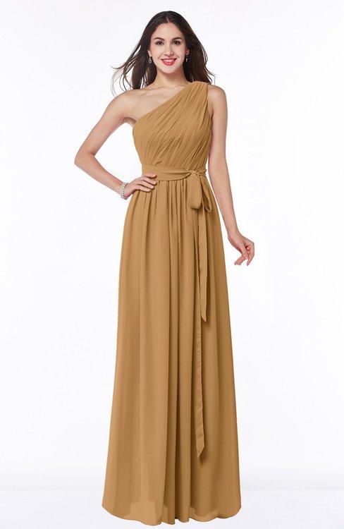 ColsBM Fiona Doe Classic A-line Asymmetric Neckline Chiffon Floor Length Sash Plus Size Bridesmaid Dresses