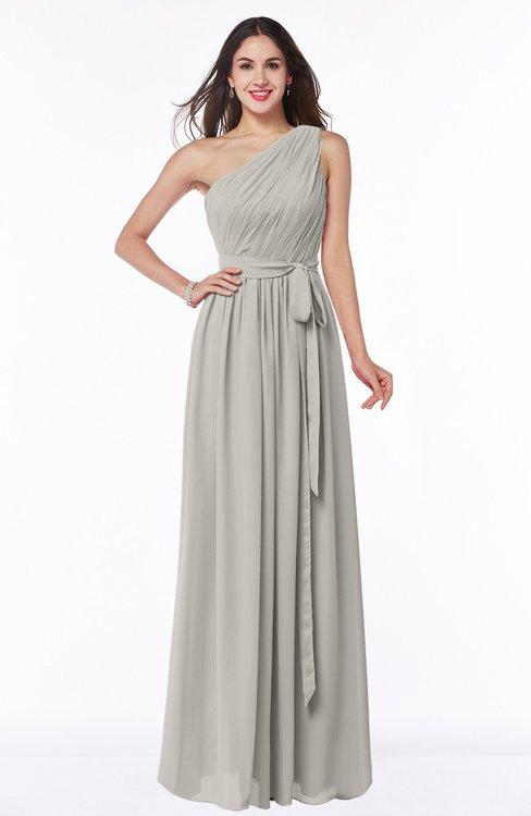 ColsBM Fiona Hushed Violet Classic A-line Asymmetric Neckline Chiffon Floor Length Sash Plus Size Bridesmaid Dresses