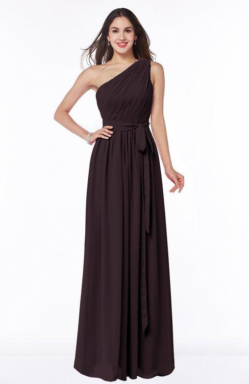 ColsBM Fiona Italian Plum Classic A-line Asymmetric Neckline Chiffon Floor Length Sash Plus Size Bridesmaid Dresses