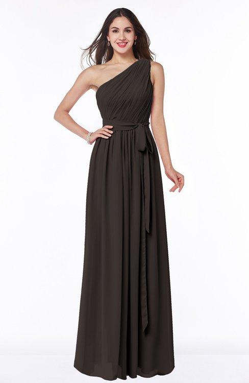ColsBM Fiona Java Classic A-line Asymmetric Neckline Chiffon Floor Length Sash Plus Size Bridesmaid Dresses