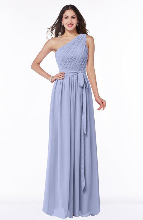 ColsBM Fiona Lavender Classic A-line Asymmetric Neckline Chiffon Floor Length Sash Plus Size Bridesmaid Dresses