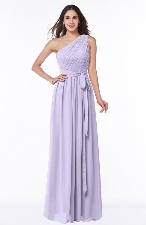 ColsBM Fiona Pastel Lilac Classic A-line Asymmetric Neckline Chiffon Floor Length Sash Plus Size Bridesmaid Dresses