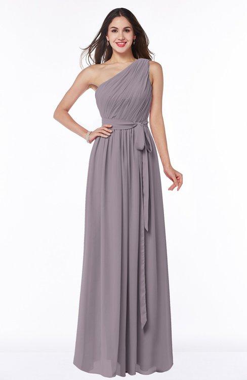 ColsBM Fiona Sea Fog Classic A-line Asymmetric Neckline Chiffon Floor Length Sash Plus Size Bridesmaid Dresses