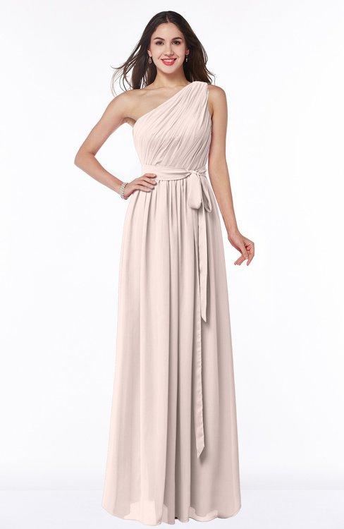 ColsBM Fiona Silver Peony Classic A-line Asymmetric Neckline Chiffon Floor Length Sash Plus Size Bridesmaid Dresses
