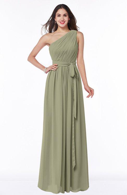 ColsBM Fiona Sponge Classic A-line Asymmetric Neckline Chiffon Floor Length Sash Plus Size Bridesmaid Dresses