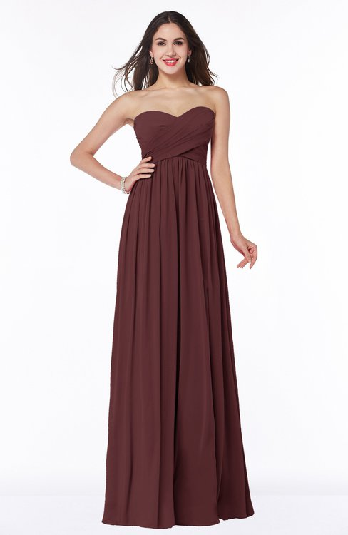 ColsBM Leyla Burgundy Modern A-line Sleeveless Zipper Chiffon Plus Size Bridesmaid Dresses