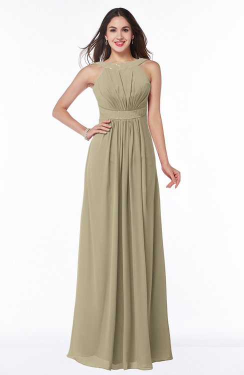 ColsBM Alicia Candied Ginger Glamorous A-line Thick Straps Sleeveless Chiffon Sash Plus Size Bridesmaid Dresses