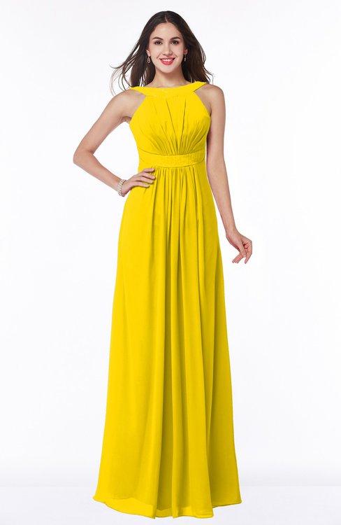 Colsbm Alicia Yellow Bridesmaid Dresses Colorsbridesmaid