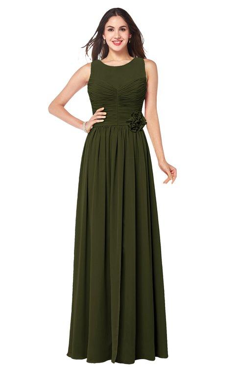 ColsBM Carla Beech Romantic Jewel Zipper Chiffon Pleated Plus Size Bridesmaid Dresses