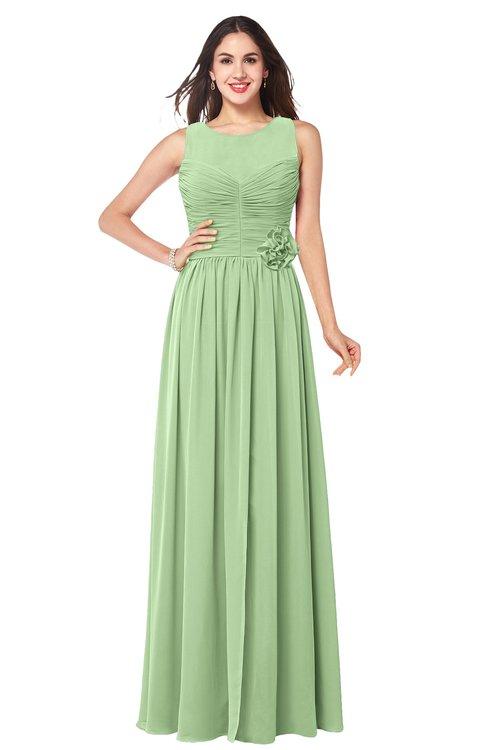 ColsBM Carla Gleam Romantic Jewel Zipper Chiffon Pleated Plus Size Bridesmaid Dresses