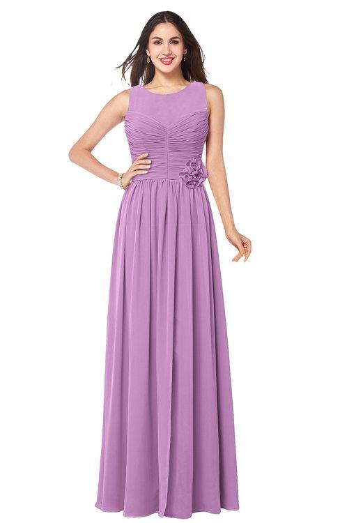 ColsBM Carla Orchid Romantic Jewel Zipper Chiffon Pleated Plus Size Bridesmaid Dresses