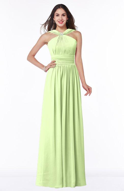 ColsBM Marie Butterfly Plain A-line Jewel Sleeveless Chiffon Bridesmaid Dresses