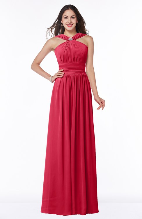 ColsBM Marie Lollipop Plain A-line Jewel Sleeveless Chiffon Bridesmaid Dresses