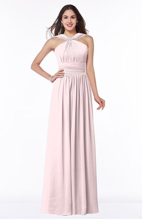 ColsBM Marie Petal Pink Plain A-line Jewel Sleeveless Chiffon Bridesmaid Dresses