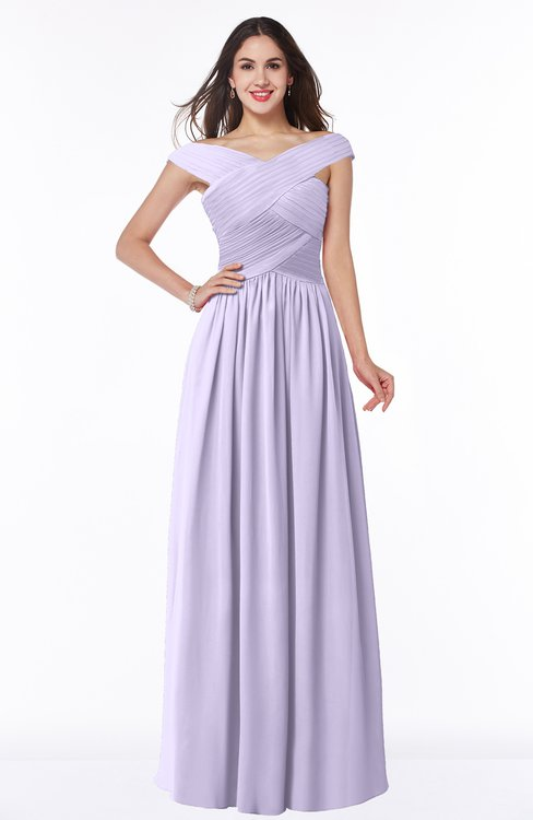 ColsBM Wendy Pastel Lilac Classic A-line Off-the-Shoulder Sleeveless Zip up Floor Length Plus Size Bridesmaid Dresses