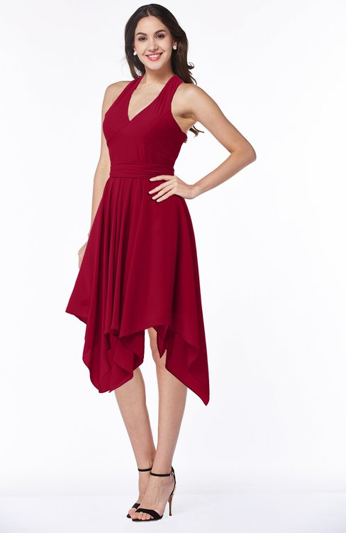 Colsbm Delaney Dark Red Bridesmaid Dresses Colorsbridesmaid