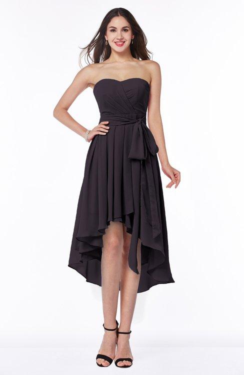 Purple Bridesmaid Dresses Perfect Plum color Bow, Cheap Purple Gowns ...
