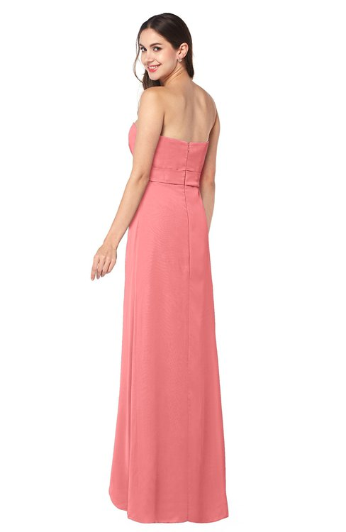 Colsbm Angelina Coral Bridesmaid Dresses Colorsbridesmaid