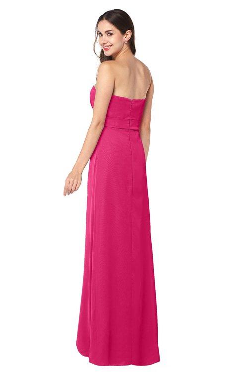 2568d8f370b ... ColsBM Angelina Fuschia Cute A-line Sleeveless Zip up Chiffon Sash Plus  Size Bridesmaid Dresses