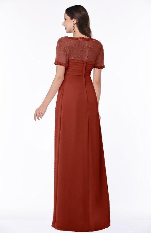 c858612f4b5b7 ... ColsBM Amanda Rust Traditional Short Sleeve Zip up Chiffon Floor Length  Flower Bridesmaid Dresses