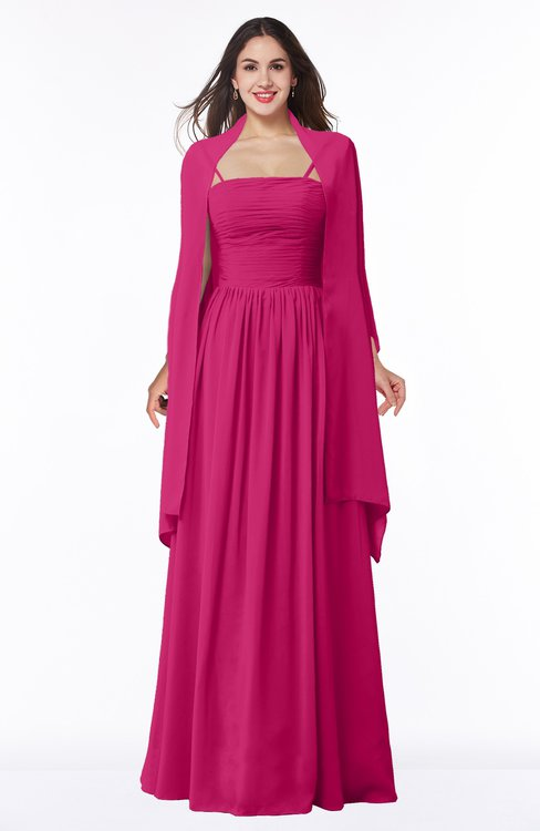 ColsBM Elyse Beetroot Purple Traditional A-line Sleeveless Zip up Chiffon Floor Length Mother of the Bride Dresses