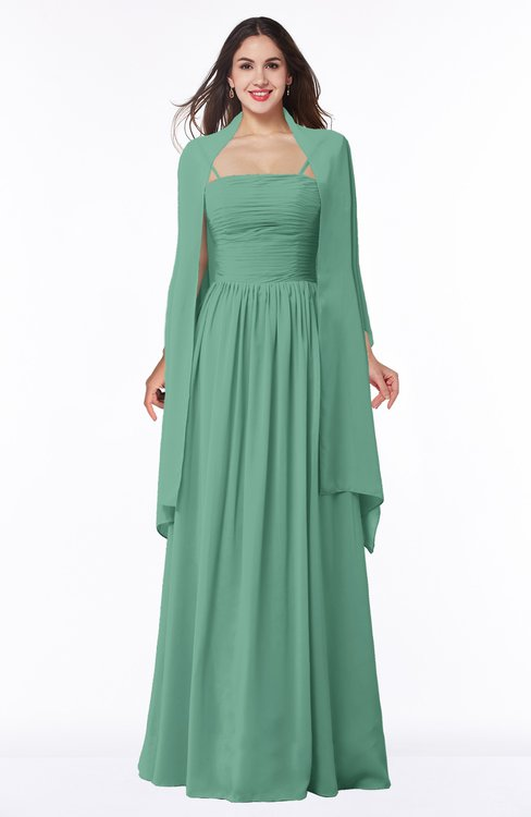 ColsBM Elyse Beryl Green Traditional A-line Sleeveless Zip up Chiffon Floor Length Mother of the Bride Dresses