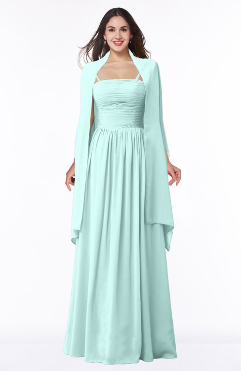 ColsBM Elyse Blue Glass Traditional A-line Sleeveless Zip up Chiffon Floor Length Mother of the Bride Dresses