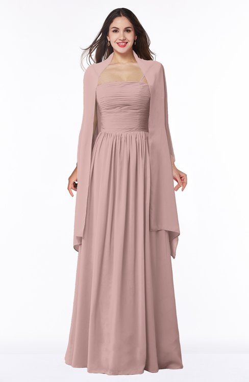 ColsBM Elyse Blush Pink Traditional A-line Sleeveless Zip up Chiffon Floor Length Mother of the Bride Dresses