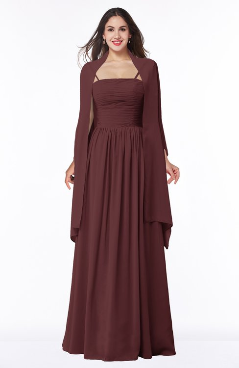 ColsBM Elyse Burgundy Traditional A-line Sleeveless Zip up Chiffon Floor Length Mother of the Bride Dresses