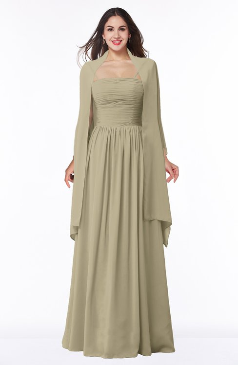 ColsBM Elyse Candied Ginger Traditional A-line Sleeveless Zip up Chiffon Floor Length Mother of the Bride Dresses