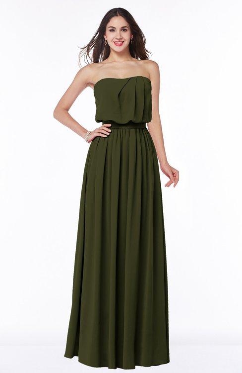 ColsBM Adelaide Beech Romantic A-line Sleeveless Zipper Ribbon Plus Size Bridesmaid Dresses