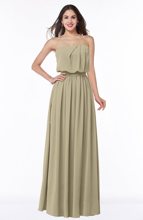 ColsBM Adelaide Candied Ginger Romantic A-line Sleeveless Zipper Ribbon Plus Size Bridesmaid Dresses