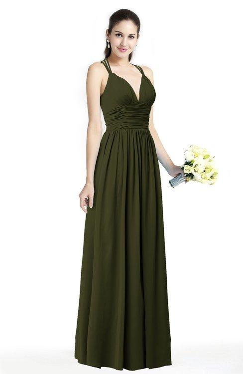 ColsBM Veronica Beech Simple A-line Sleeveless Zipper Chiffon Sash Plus Size Bridesmaid Dresses