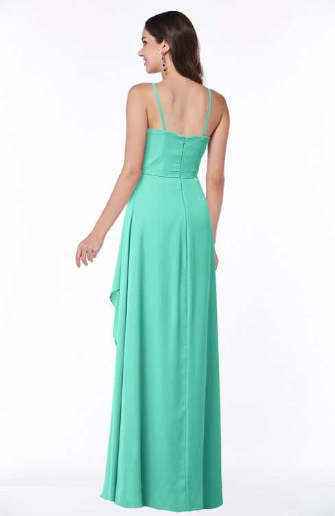 what color shoes to wear with seafoam green dress