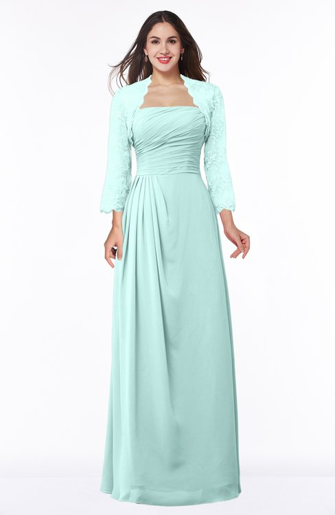 ColsBM Camila Blue Glass Modest Strapless Zip up Floor Length Lace Mother of the Bride Dresses