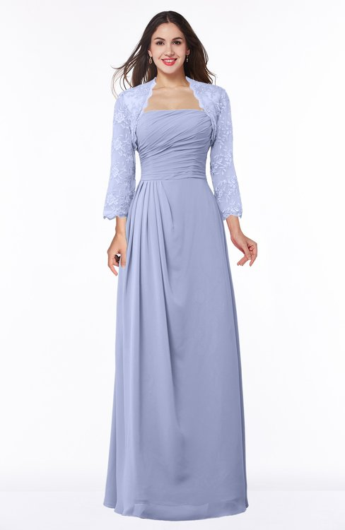 ColsBM Camila Blue Heron Modest Strapless Zip up Floor Length Lace Mother of the Bride Dresses