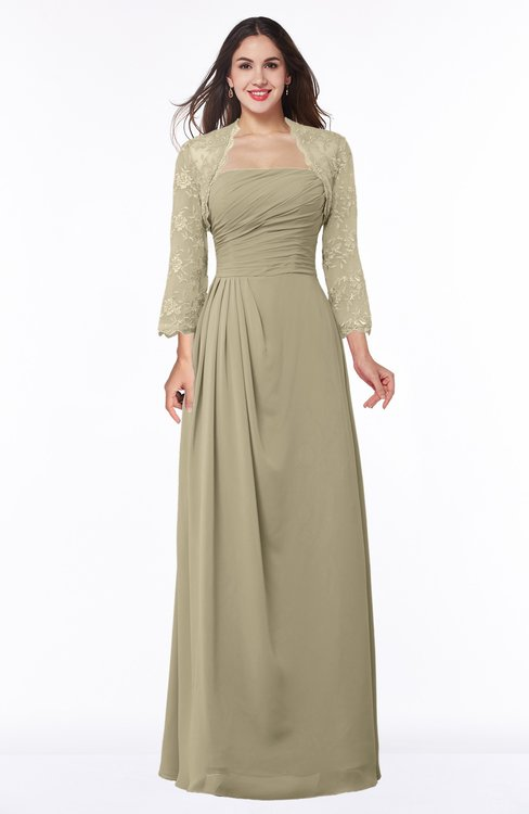 ColsBM Camila Candied Ginger Modest Strapless Zip up Floor Length Lace Mother of the Bride Dresses