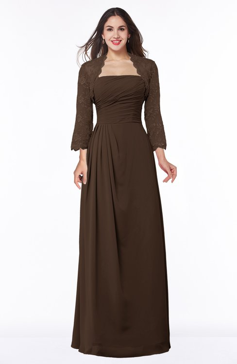 ColsBM Camila Copper Modest Strapless Zip up Floor Length Lace Mother of the Bride Dresses