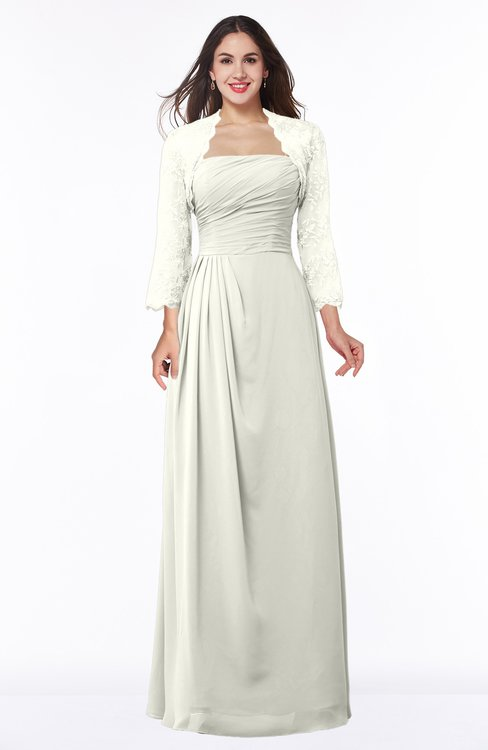ColsBM Camila Cream Modest Strapless Zip up Floor Length Lace Mother of the Bride Dresses