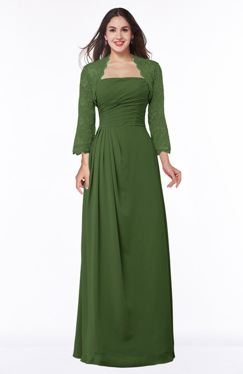 ColsBM Camila Garden Green Modest Strapless Zip up Floor Length Lace Mother of the Bride Dresses
