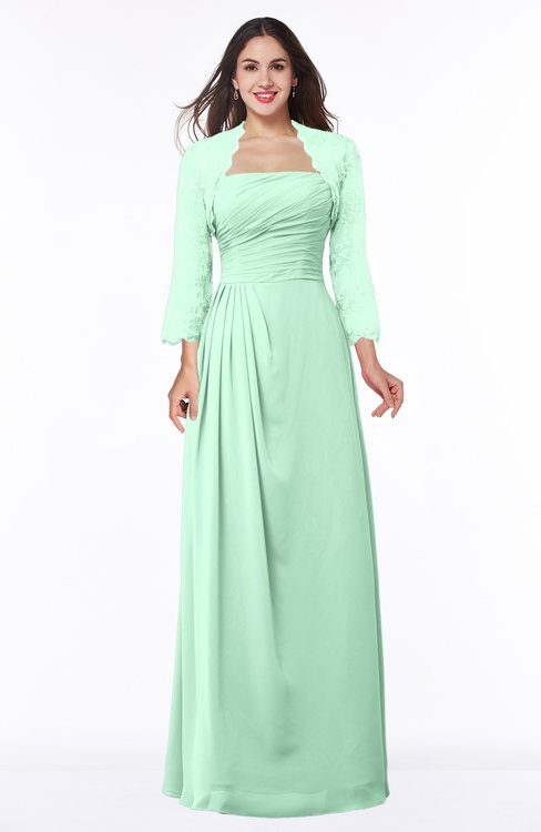 ColsBM Camila Honeydew Modest Strapless Zip up Floor Length Lace Mother of the Bride Dresses