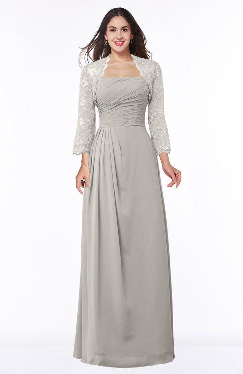 ColsBM Camila Hushed Violet Modest Strapless Zip up Floor Length Lace Mother of the Bride Dresses