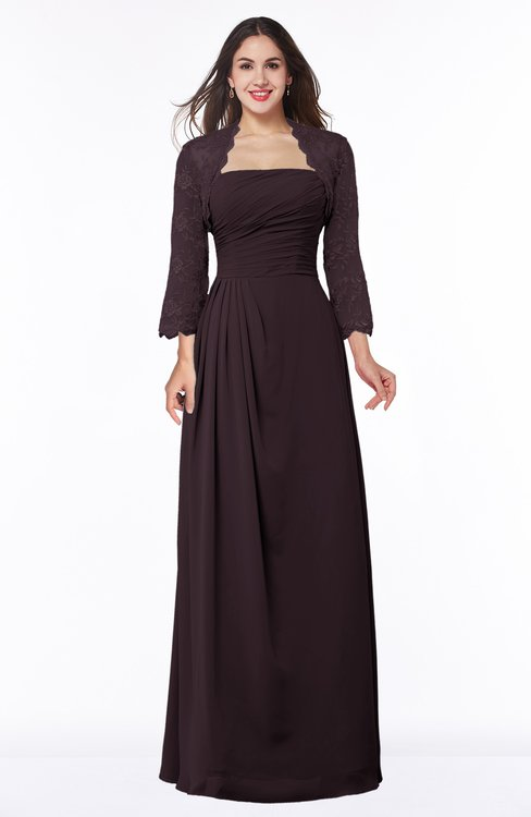 ColsBM Camila Italian Plum Modest Strapless Zip up Floor Length Lace Mother of the Bride Dresses