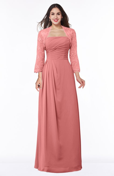 ColsBM Camila Lantana Modest Strapless Zip up Floor Length Lace Mother of the Bride Dresses