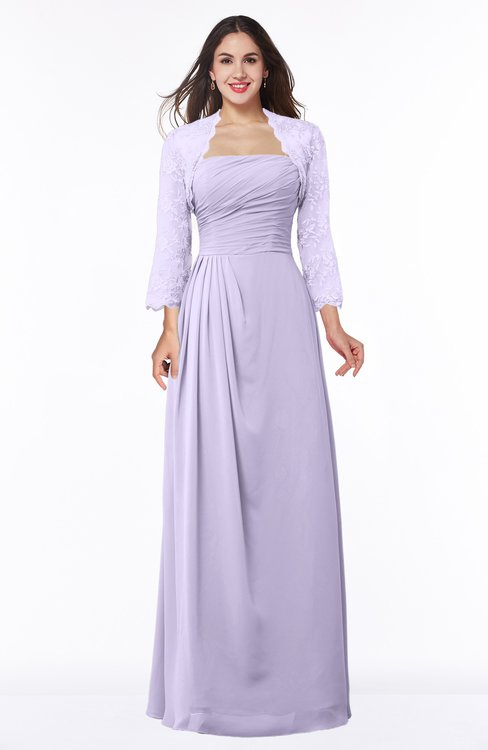 ColsBM Camila Light Purple Modest Strapless Zip up Floor Length Lace Mother of the Bride Dresses