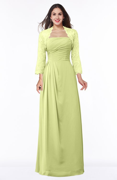 ColsBM Camila Lime Green Modest Strapless Zip up Floor Length Lace Mother of the Bride Dresses