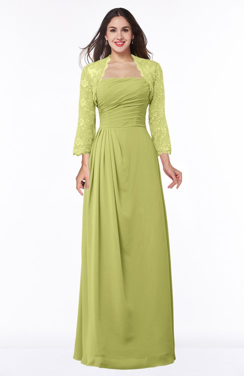 ColsBM Camila Linden Green Modest Strapless Zip up Floor Length Lace Mother of the Bride Dresses